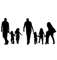family holding hands vector image