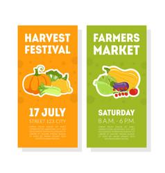 fruit festival banner templates ser farmers vector image