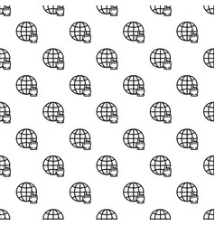 global hand click pattern seamless vector image