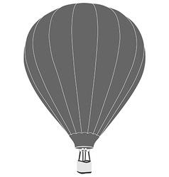 Grey hot air balloon vector