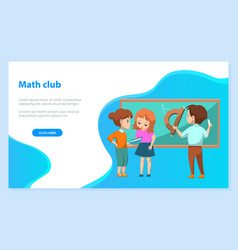 Group kids solving math problems image vector