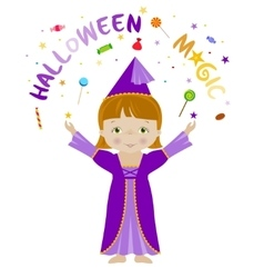 Halloween magic cartoon vector image