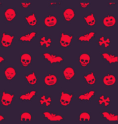 Halloween pattern seamless background vector