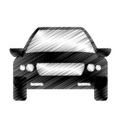 Hand drawing car sedan icon vector