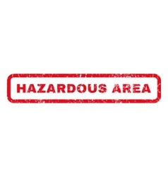 Hazardous Area Rubber Stamp vector image