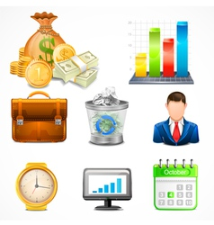 Icons items business vector