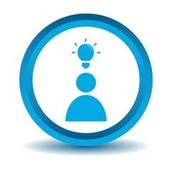 Idea icon blue 3D vector