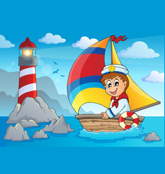 Image with sailor theme 4 vector