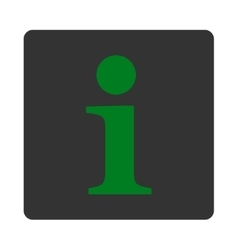 Info flat green and gray colors rounded button vector