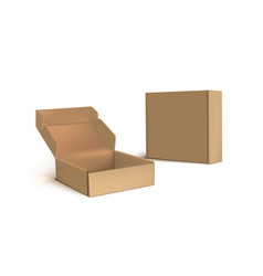 isolated two cardboard boxes on white background vector image