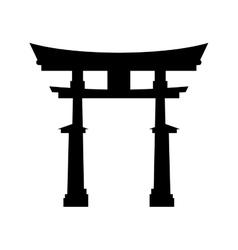 Japanese pagoda temple vector