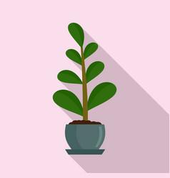 jungle houseplant icon flat style vector image