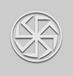 Kolovrat slavic sign icon vector