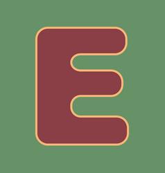 Letter e sign design template element vector