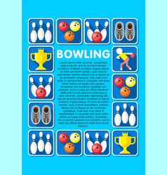 Light bowling elements collection vector