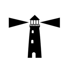 lighthouse guide ocean location signal vector image