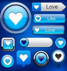 Like high-detailed modern buttons vector