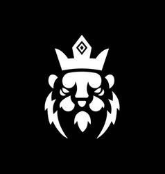 Lion mascot logo black and white version lion vector