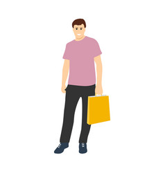 man with shopping bag with sales vector image