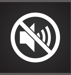 No noise allowed sign on black background for vector