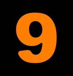 number 9 sign design template element orange icon vector image