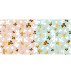 Pale color and gold butterfly seamless pattern vector