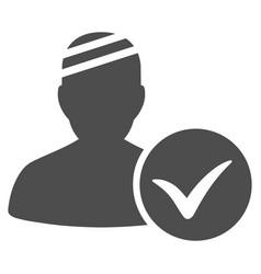 Patient ok flat icon vector