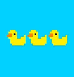 Pixel Ducks vector