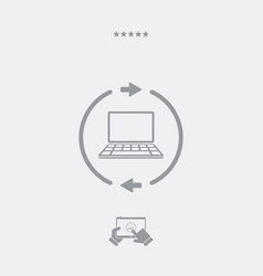 refresh setting flat icon vector image