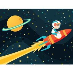 rocket boy vector image