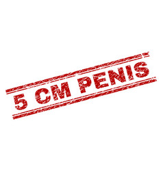 Scratched textured 5 cm penis stamp seal vector