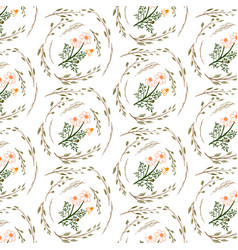 seamless floral pattern isolated vector image