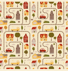 seamless pattern - texture simulating a map with vector image