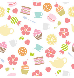 Seamless tea background vector