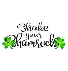 shake your shamrocks vector image