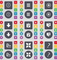 Smile Apps Plus Arrow down Survey Wallet SMS vector image
