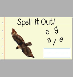 Spell it out eagle vector