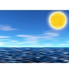 Sun blue sky and sea vector image vector image