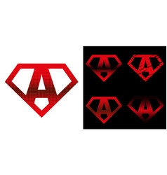 Super hero logo letters superhero alphabet vector