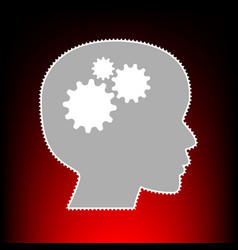 thinking head vector image