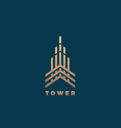 tower abstract geometry minimal sign vector image