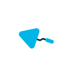 trowel icon colored symbol premium quality vector image