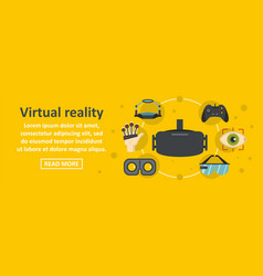 virtual reality banner horizontal concept vector image