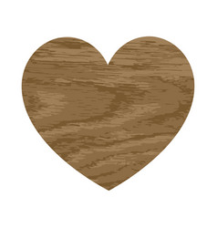 wooden heart with an oak vector image