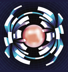 ball extension movement volume space grid abstract vector image
