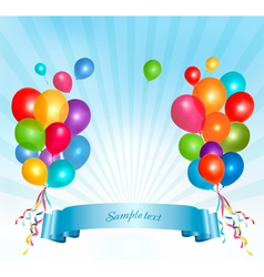 Holiday balloons frame composition vector image vector image