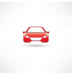 red front car vector image