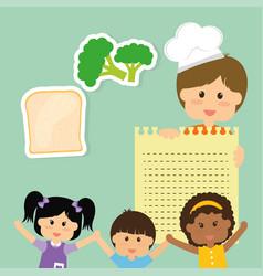 childrens food menu delicious diet vector image