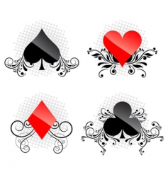 decorative card symbols vector image vector image