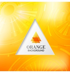 Orange tiangle abstract background vector image vector image